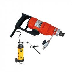 Carotteuse portative Weka DK11 + pompe à eau cuve métallique + collecteur d'eau